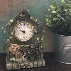 🕰 Ceramic Ivy Clock 🕰